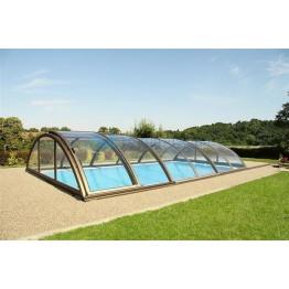 Acoperitoare policarbonat pentru piscine pana la 10.60 x 5.01m, KLASIK C antracit