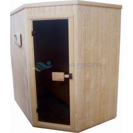 Cabina sauna pentru colt 1,5 x 1,5m