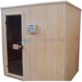 Cabina sauna standard 1,5 x 1,5m