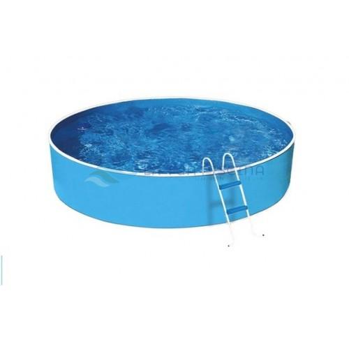 Piscina AZURO rotunda din otel, skimfilter 2000 si scara, D 2.40x0.90m